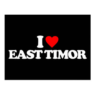 I LOVE EAST TIMOR POSTCARD