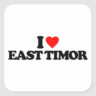 I LOVE EAST TIMOR SQUARE STICKERS