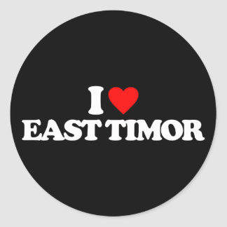I LOVE EAST TIMOR ROUND STICKERS