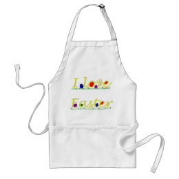 I love Easter Adult Apron
