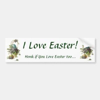I Love Easter! Bumper Sticker Car Bumper Sticker