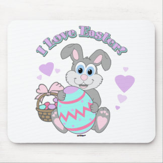 I Love Easter! Easter Bunny Mouse Pad