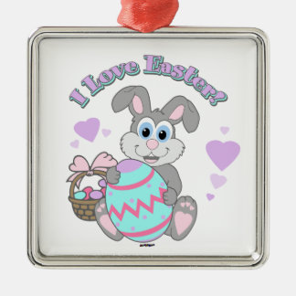 I Love Easter! Easter Bunny Christmas Tree Ornament