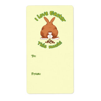 I Love Easter Gift Tag Labels