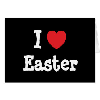 I love Easter heart T-Shirt Cards