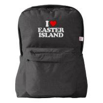 I LOVE EASTER ISLAND BACKPACK