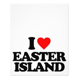 I LOVE EASTER ISLAND FULL COLOR FLYER