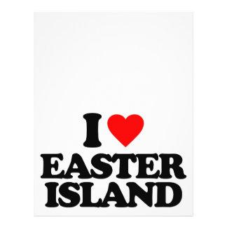 I LOVE EASTER ISLAND CUSTOM FLYER