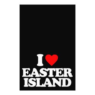 I LOVE EASTER ISLAND FLYER DESIGN