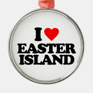 I LOVE EASTER ISLAND ORNAMENT