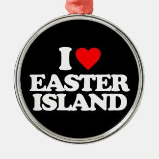 I LOVE EASTER ISLAND CHRISTMAS TREE ORNAMENT