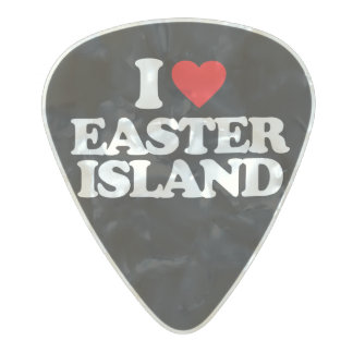 I LOVE EASTER ISLAND PEARL CELLULOID GUITAR PICK