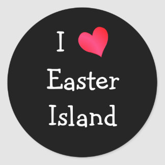 I Love Easter Island Stickers