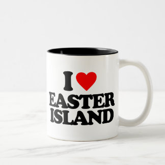 I LOVE EASTER ISLAND Two-Tone COFFEE MUG