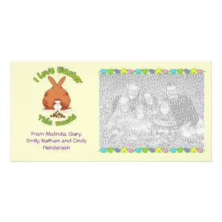 I Love Easter Personalized Photo Card