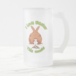 I love Easter this much Beer Stein 16 Oz Frosted Glass Beer Mug