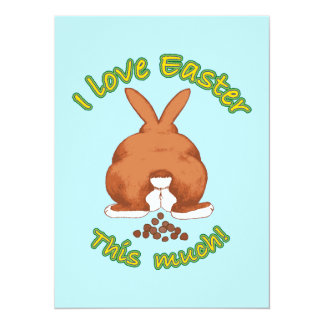 I Love Easter This Much 5.5x7.5 Paper Invitation Card