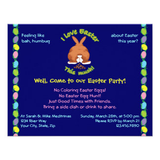 I Love Easter This Much Invites