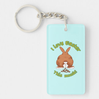 I Love Easter This Much Acrylic Key Chain