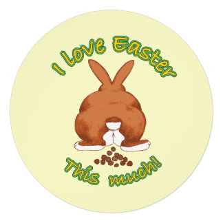 I Love Easter This Much Personalized Announcement