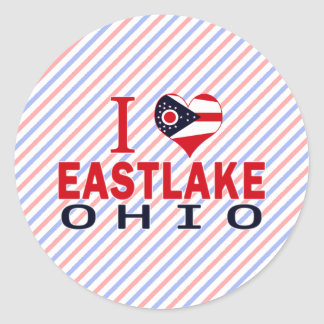 I love Eastlake, Ohio Round Stickers