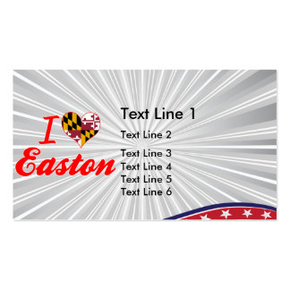 I Love Easton, Maryland Double-Sided Standard Business Cards (Pack Of 100)