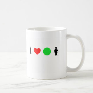 I love easy women classic white coffee mug
