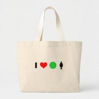 I love easy women large tote bag