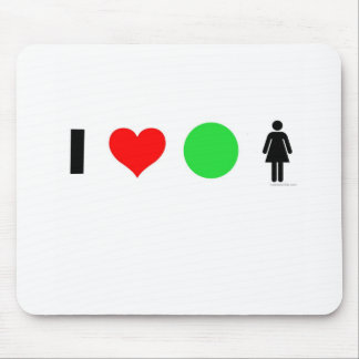 I love easy women mouse pad