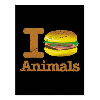 I Love Eat Animals Postcard