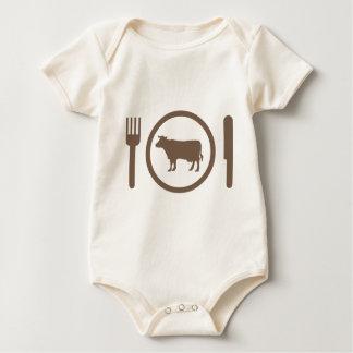 I Love Eat Cows Baby Bodysuit