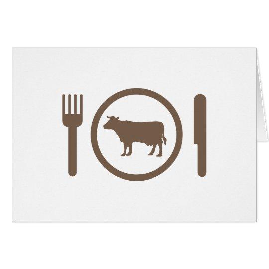 I Love Eat Cows Card