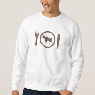 I Love Eat Cows Pullover Sweatshirt