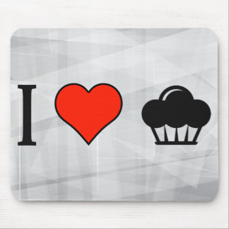 I Love Eating Cupcakes Mouse Pad
