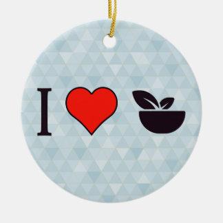 I Love Eating Light Ceramic Ornament