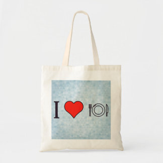 I Love Eating To My Hearts Content Tote Bag