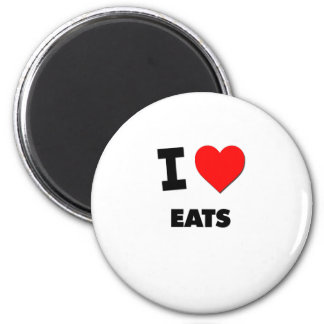 I love Eats 2 Inch Round Magnet