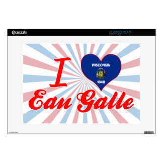 "I Love Eau Galle, Wisconsin 15"" Laptop Skins"