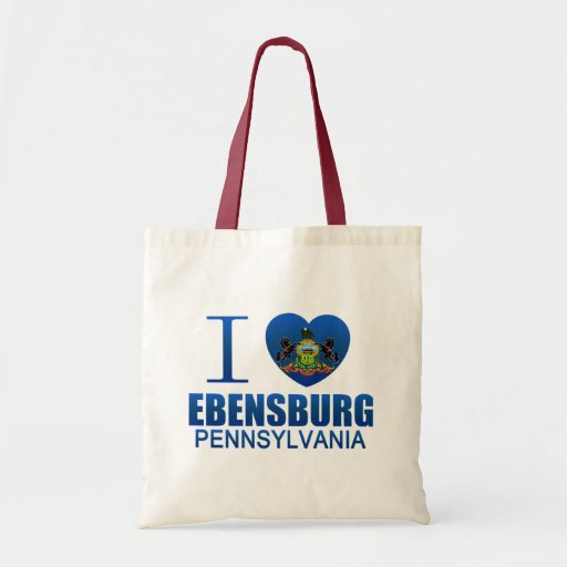 i love ebensburg pa bag zazzle log house contractor in johnstown somerset cambria county pa