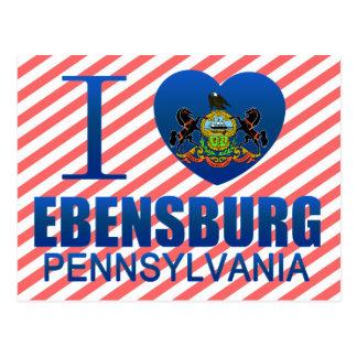 I Love Ebensburg, PA Postcard