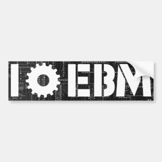 I Love EBM Circuit Board Gear Car Bumper Sticker