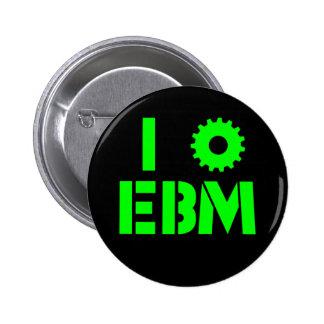 I LOVE EBM Green 2 Inch Round Button