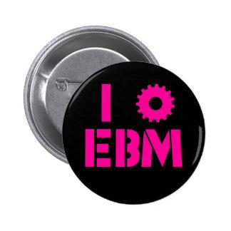 I LOVE EBM Hot Pink 2 Inch Round Button
