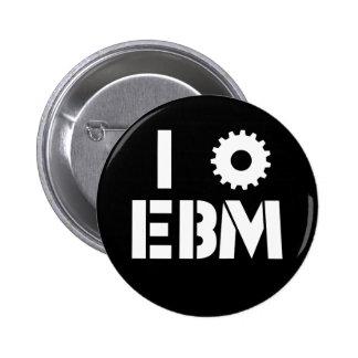 I LOVE EBM White 2 Inch Round Button