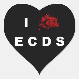 I love ECDS Heart Sticker