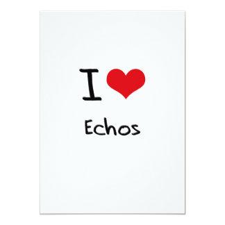 I love Echos 5x7 Paper Invitation Card