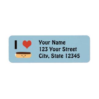 I love Eclairs Return Address Label