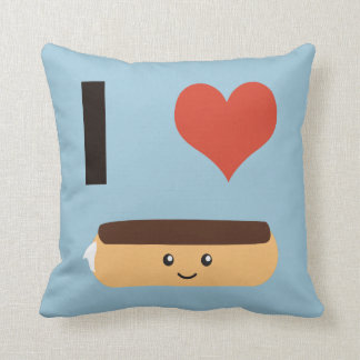 I love Eclairs Throw Pillow