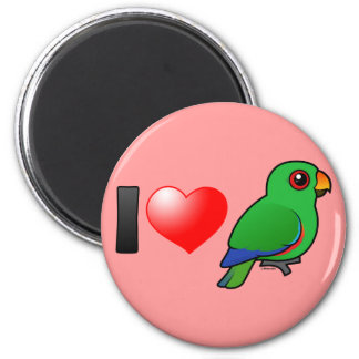 I Love Eclectus Parrots (male) 2 Inch Round Magnet