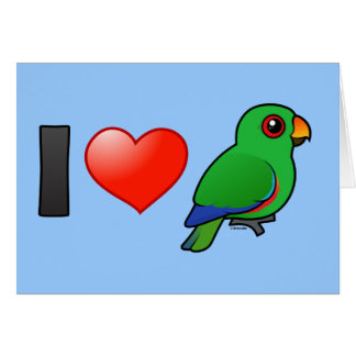 I Love Eclectus Parrots (male) Greeting Card